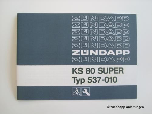 bedienungsanleitung z ndapp ks 80 super ks80 super typ. Black Bedroom Furniture Sets. Home Design Ideas