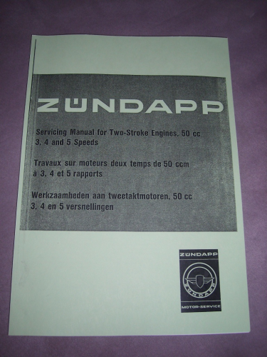 Zündapp workshop Manual for Two Stroke Engines 50 cc
