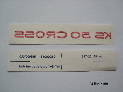 Tank Aufkleber F Zündapp Ks 50 Cross Rot Original Bentlage